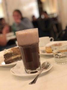 Delicias del café central en Viena